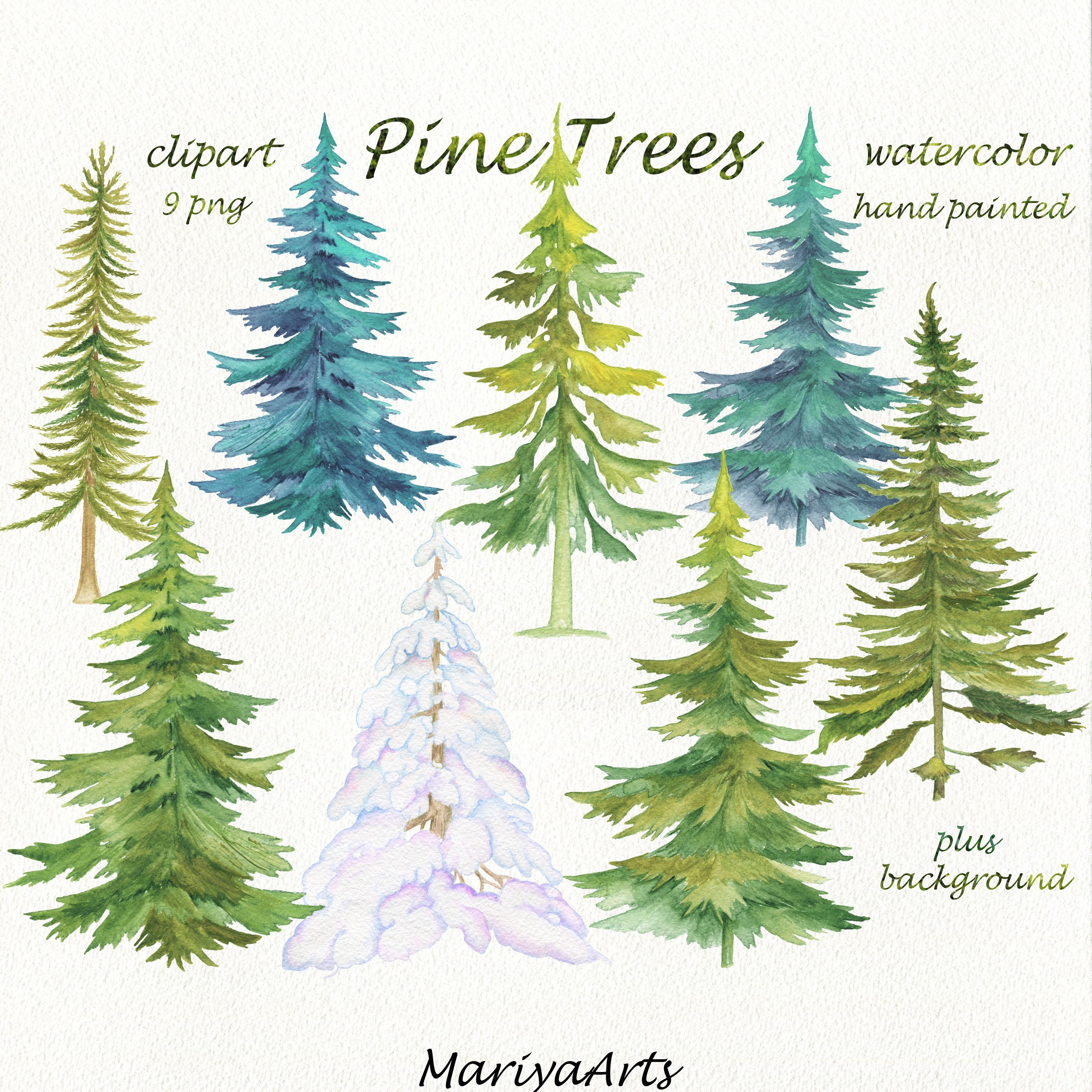 Get Your Winter On Paint This Fast And Fabulous Watercolor Pine