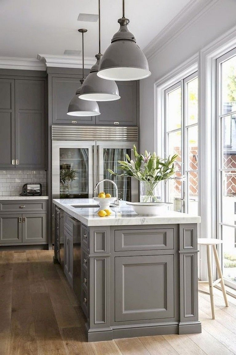 18+ Stunning Ideas of Grey Kitchen Cabinets #graycabinets