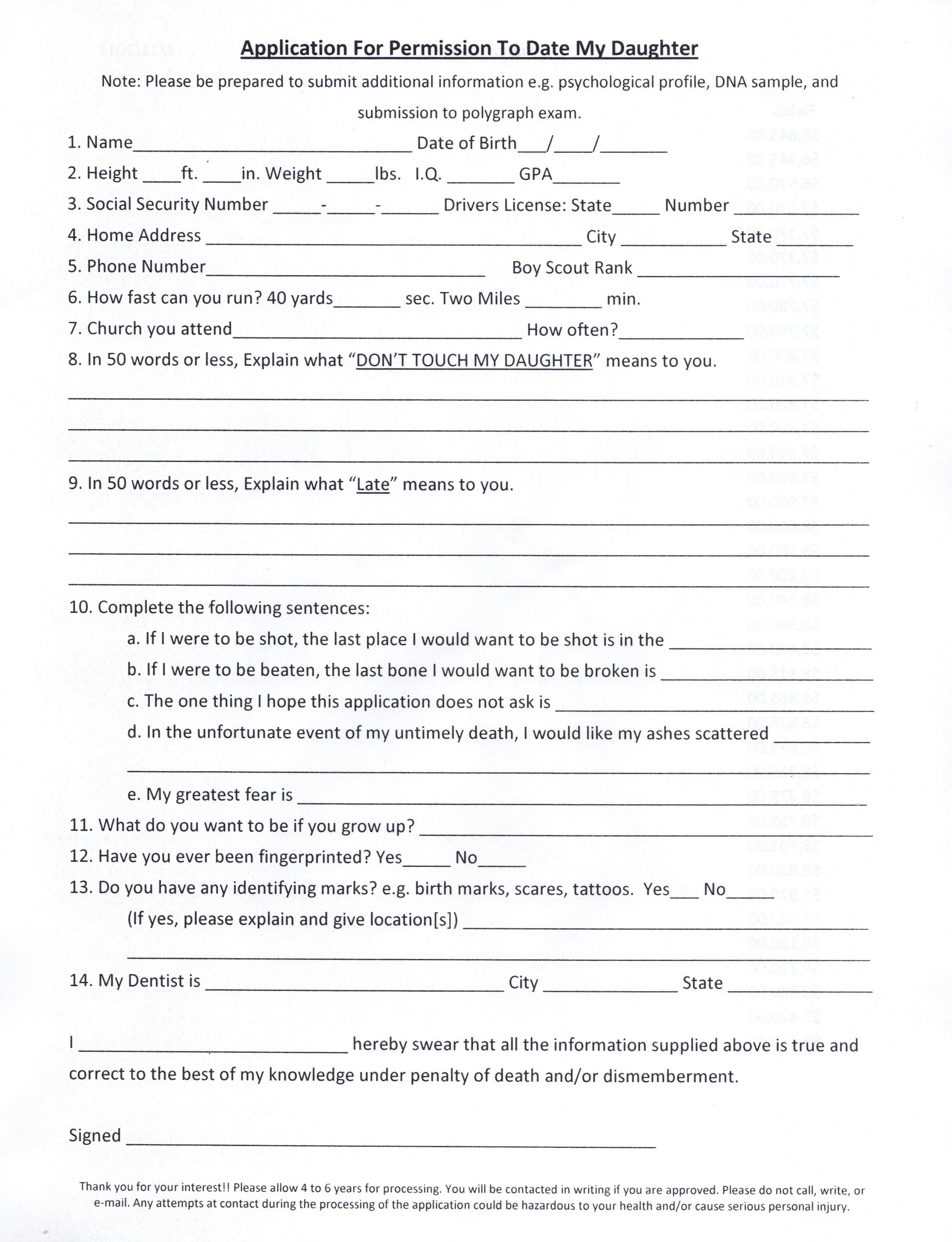 Application to date