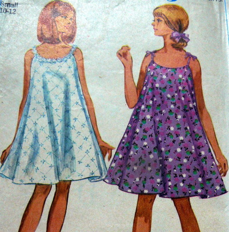 LOVELY VTG 1960s DRESS Sewing Pattern SMALL BUST 31-32