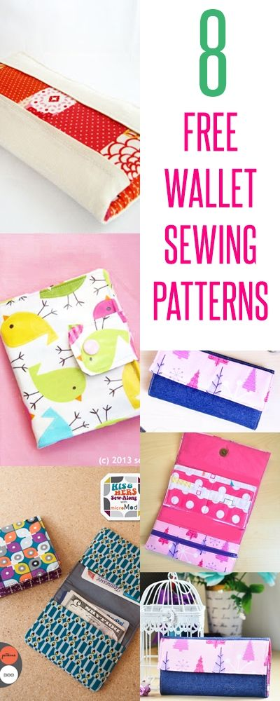 free wallet patterns | wallet sewing tutorials | diy wallets | kids ...