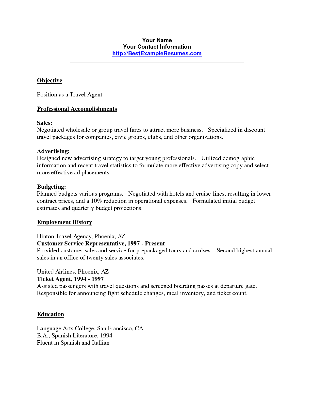 Agent Cover Letter Travel Agent Resume Sample Good Argument Essay Example  Home Based
