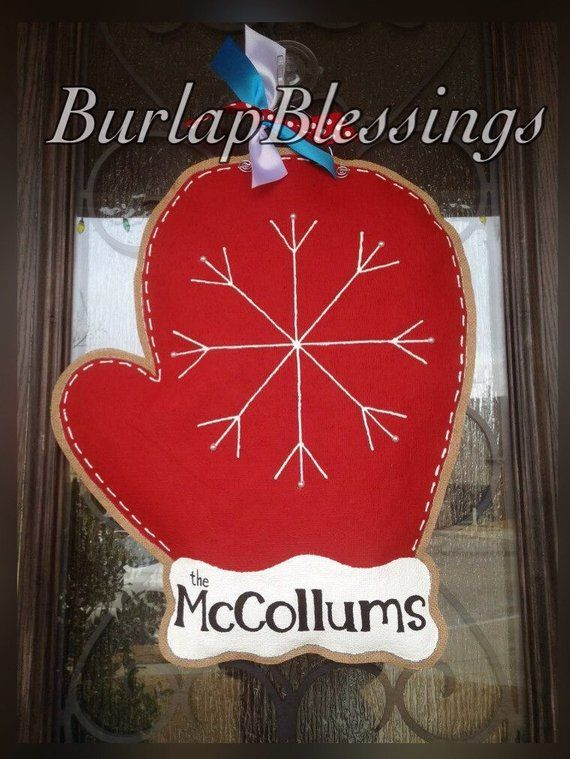 Photo of Personalized Hand-Painted Winter Snowflake Mitten