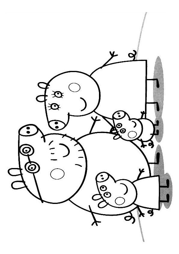 peppa pig coloring pages  peppa pig familie kinderfarben
