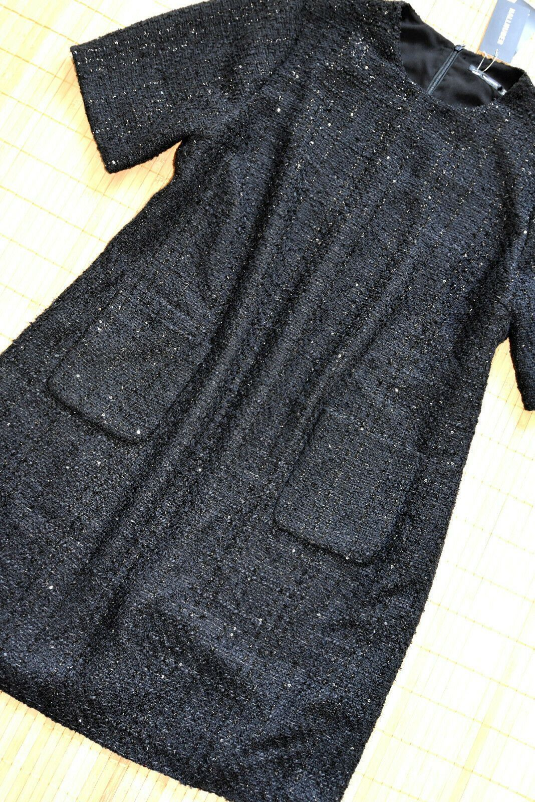 HALLHUBER wunderschönes Boucle Kleid Etuikleid Gr. 20 neu Schwarz