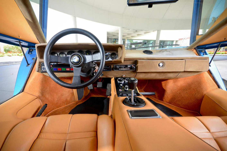 1975 lamborghini countach lp400 chassis 1120066 blue tahiti interior cars pinterest. Black Bedroom Furniture Sets. Home Design Ideas