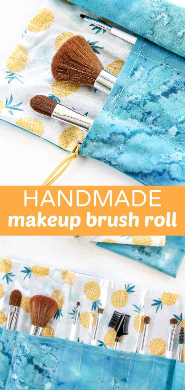 How to Sew a Fabric Makeup Brush Holder Diy makeup brush