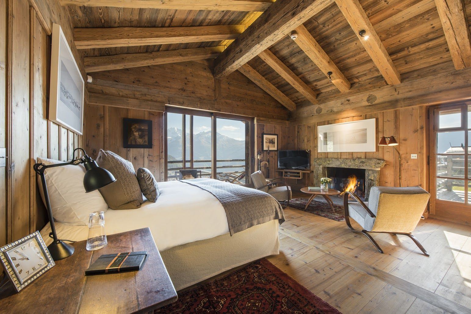 Master bedroom with jacuzzi tub  Pin by Bramble Ski on Chalet Orsini  Verbier  Pinterest