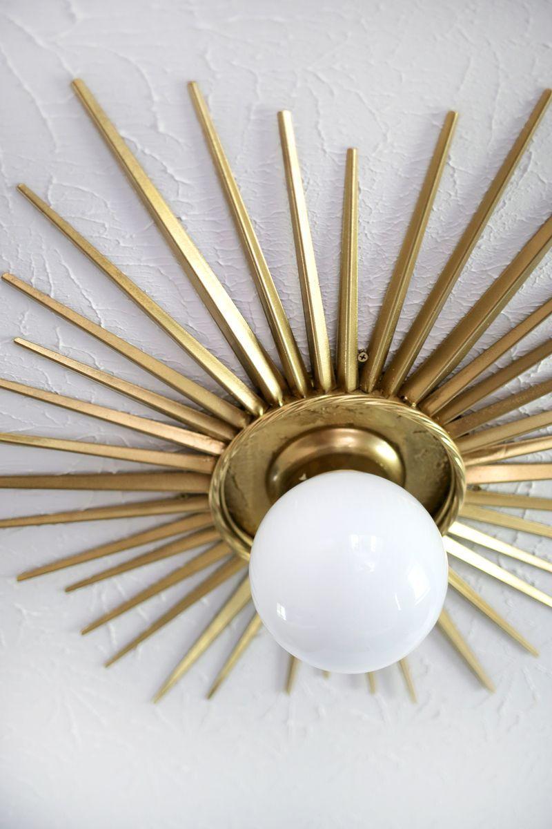 Need to do this sunburst ceiling medallion diy click through for sunburst ceiling medallion diy click through for tutorial arubaitofo Image collections