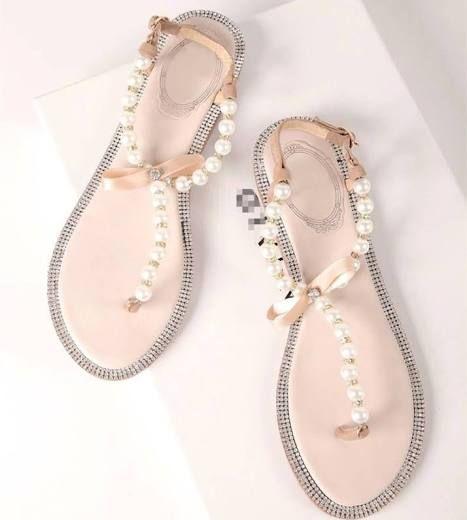 Pearl Flip Flop, Ivory Pearl Sandals ...