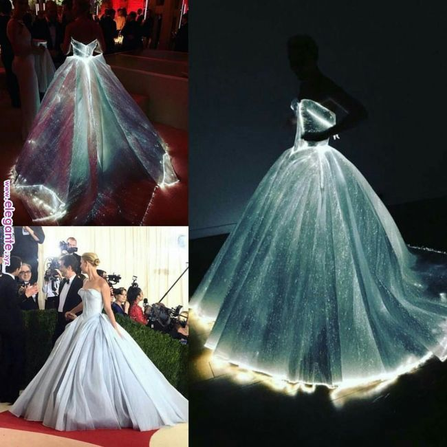 Zac Posen Magical Glowing Dress Worn By Claire Danes @ Met
