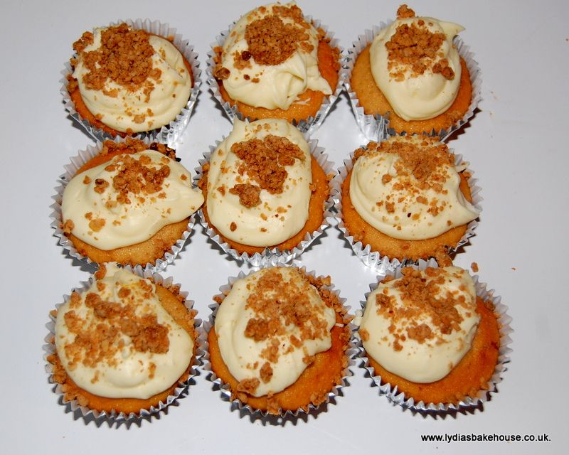 Apple Crumble cupcakes available from www.Lydiasbakehouse.co.uk