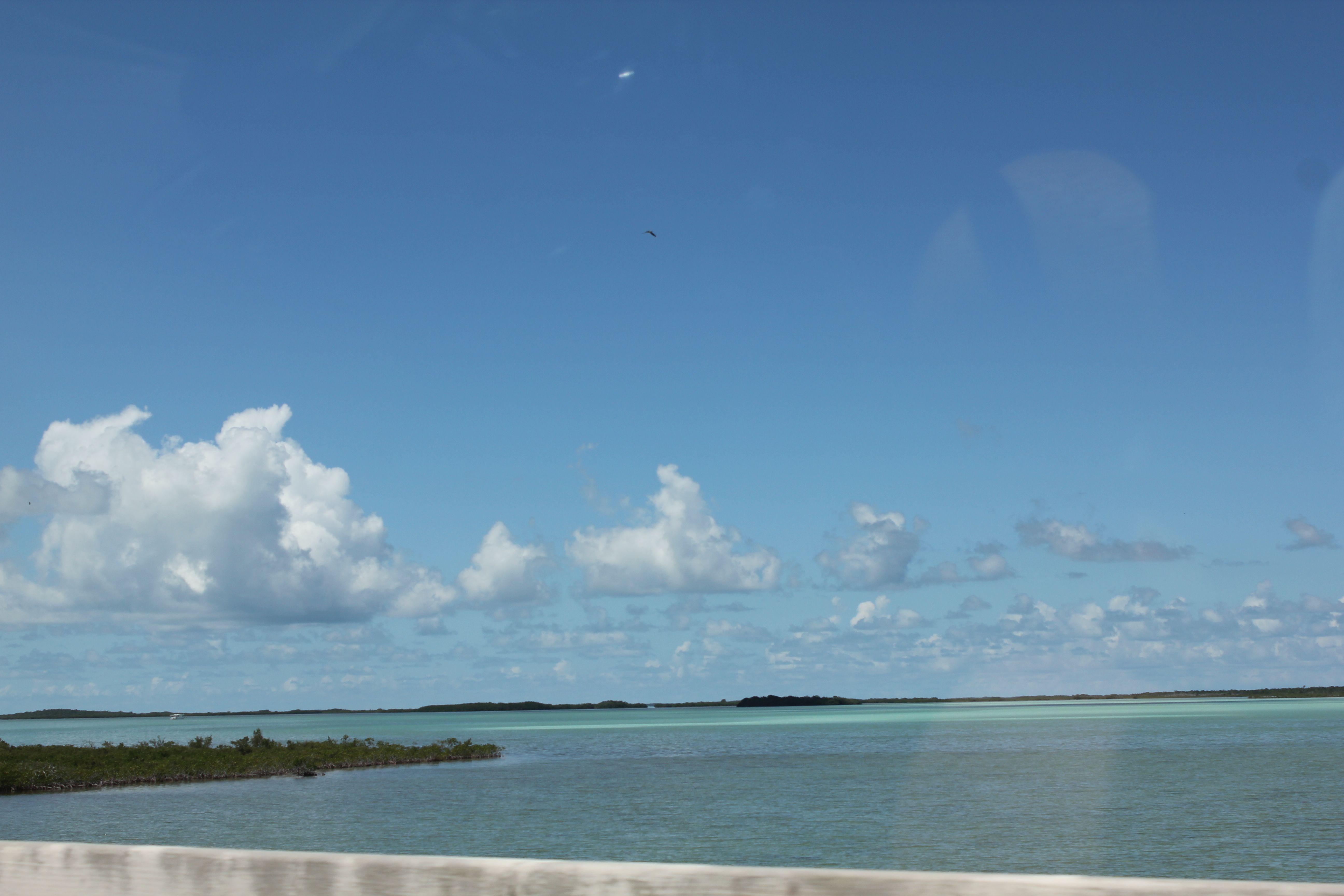 Tropical blue op weg naar Key West.