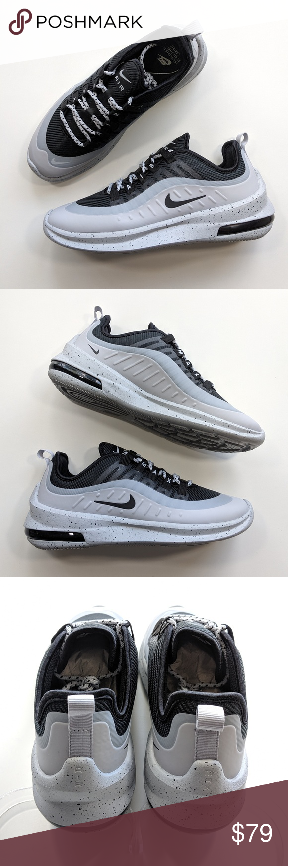 prosperidad Documento Sin aliento  NEW Nike Air Max Axis Premium Black/Wolf Grey | Nike air max, New nike air,  Black wolf