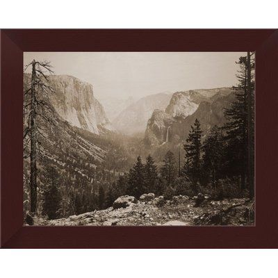 East Urban Home The Yosemite Valley From Inspiration Pt Mariposa Trail Framed Photographic Print Size H X W Frame Color Esp