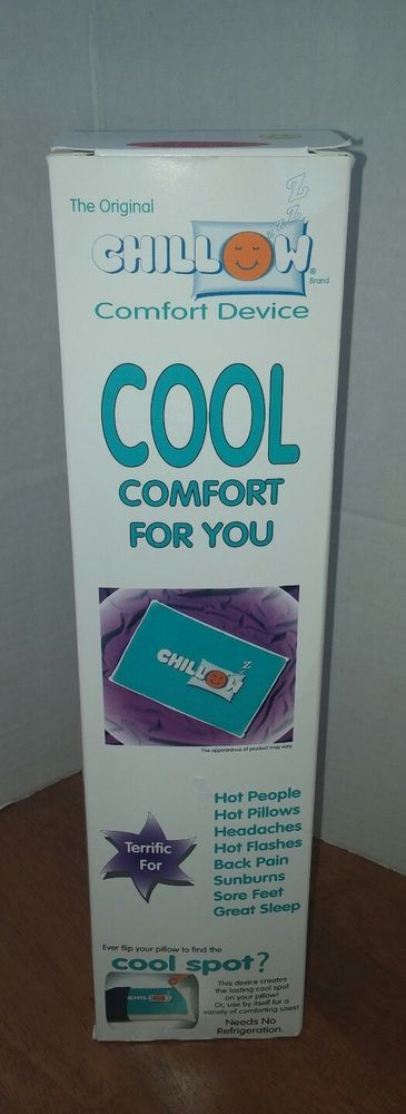 Details About The Original Chillow Cool Your Pillow Made In Usa