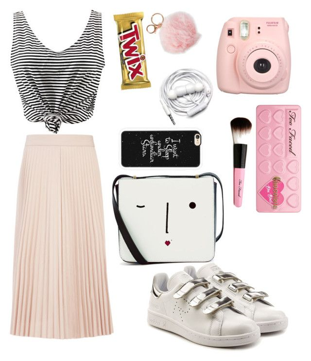 """Untitled #131"" by arwaroro48 on Polyvore featuring Joseph, WithChic, adidas, Alexia Crawford, Fujifilm, Too Faced Cosmetics, Lulu Guinness, Urbanears and Casetify"