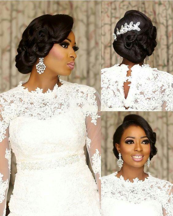 Ghanaian Bridal Styling With Straight Hair: 【www.shelahair.com】Wedding Hair Peruvian Straight Bundles