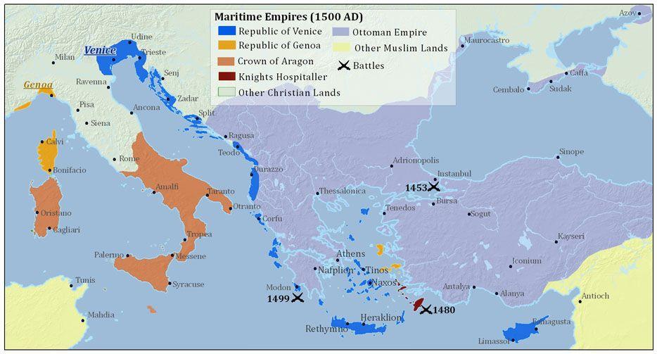 The Maritime Republics Of Venice Genoa And Pisa 1