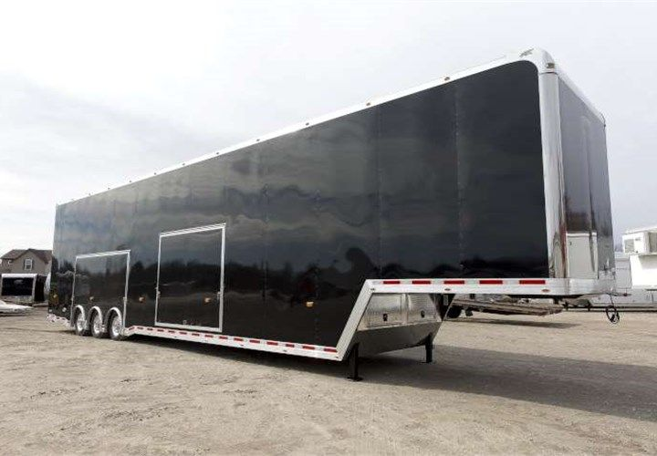Custom Sized 50 Long Gooseneck Stacker This Trailer Features Two