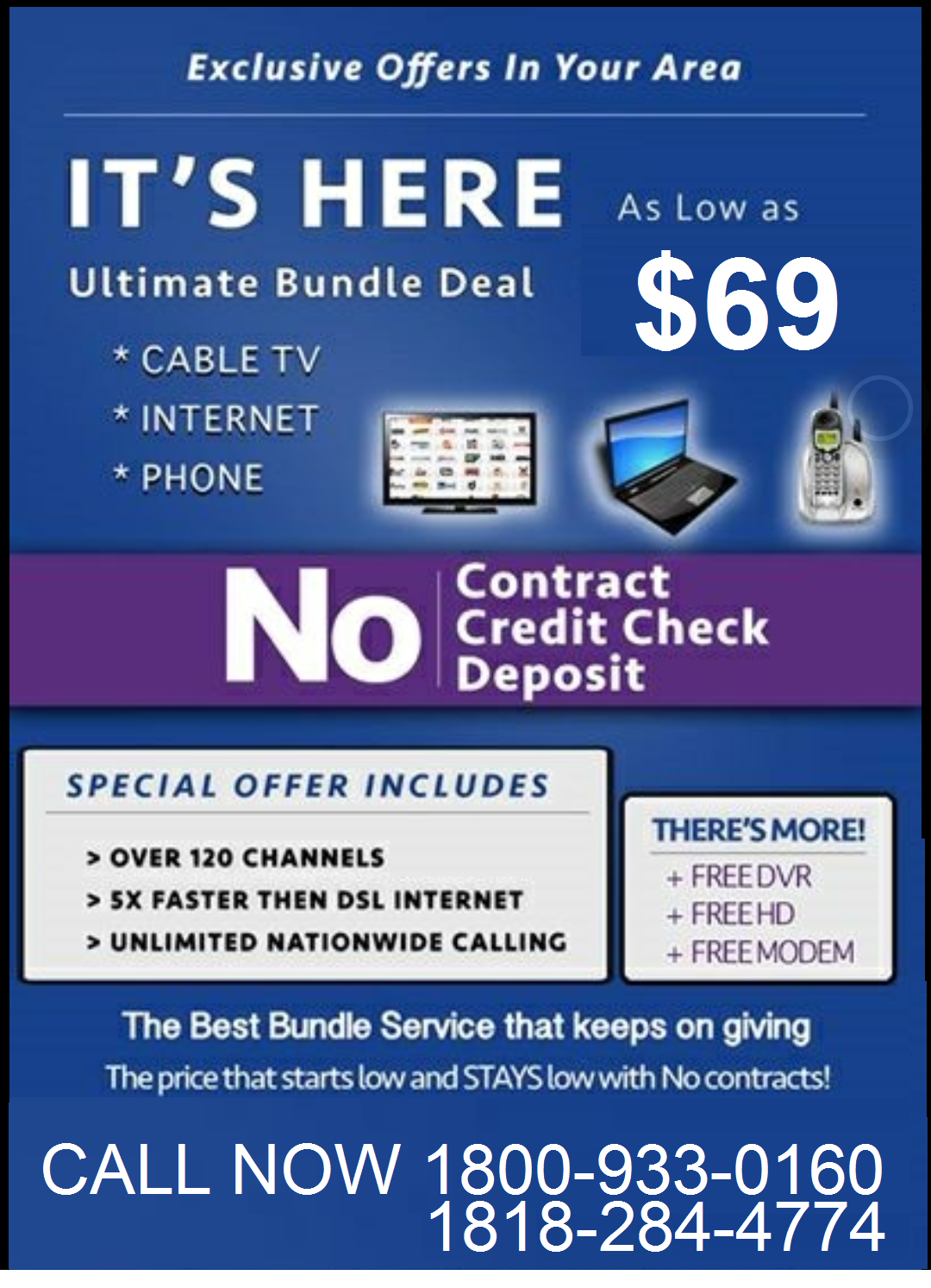 Best Tv Service >> Best Tv Internet Phone Services No Contract No Upfront Dial Us Now