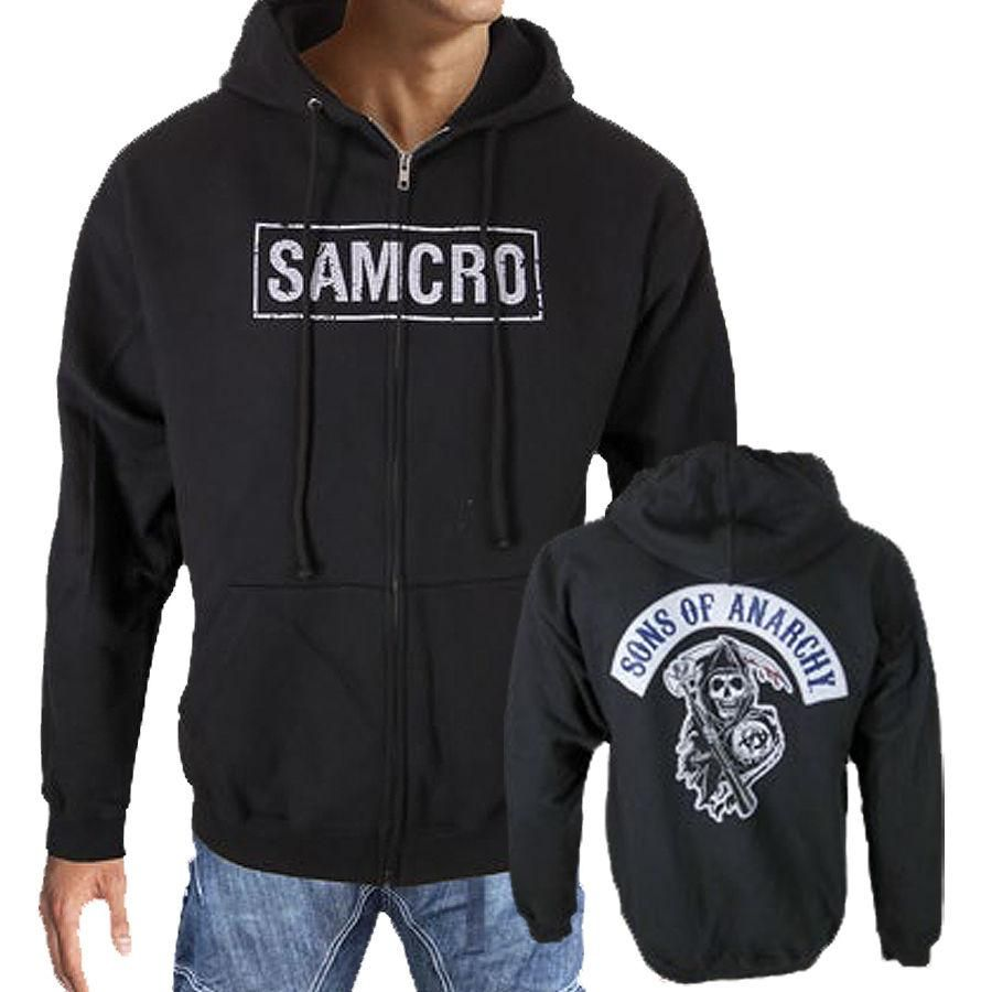 4f9bb68f Sons Of Anarchy SAMCRO SOA Reaper Patch Licensed Men's Biker Zipper Hoodie  #samcro #samcroforlife #samcrotfup #SonsOfAnarchyItaly #SoA #SAMCRO ...