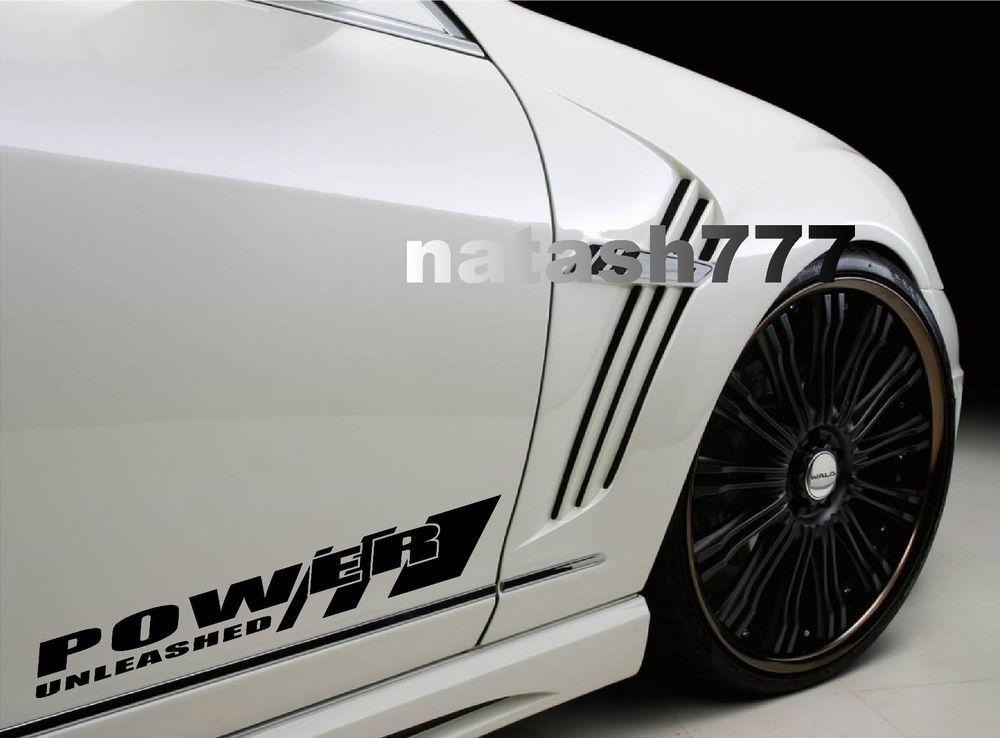 Power Unleashed Sport Racing Car Truck Suv Vinyl Decal Sticker Emblem Logo Black Natash777 Car Decals Vinyl Car Decals Truck Decals