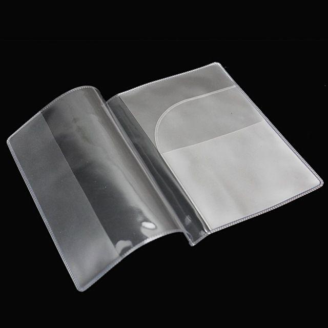 SAF-2 x Fashion Transparent Passport Holder Cover Case Travel Wallet Protector Folder