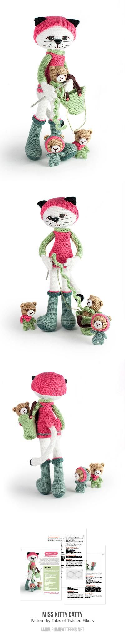 Miss Kitty Catty amigurumi pattern by Tales of Twisted Fibers | Gato ...