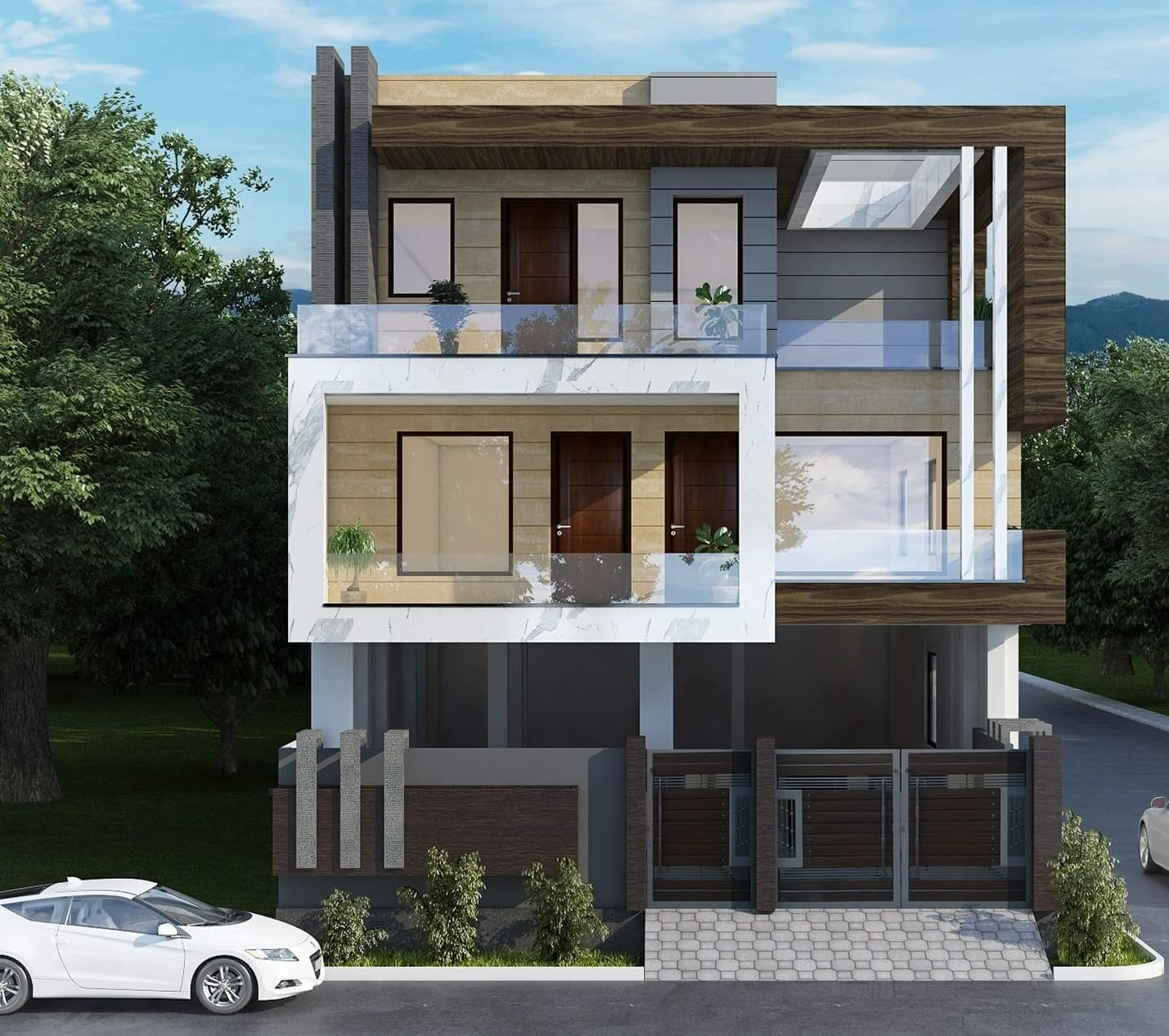 Modern Building Designs 2019: Pin By Dwarkadhish&Co. On Elevation-2 In 2019