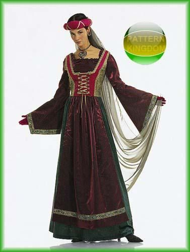 Burda 2509 Medieval Renaissance Lady of the Castle Patterns ...