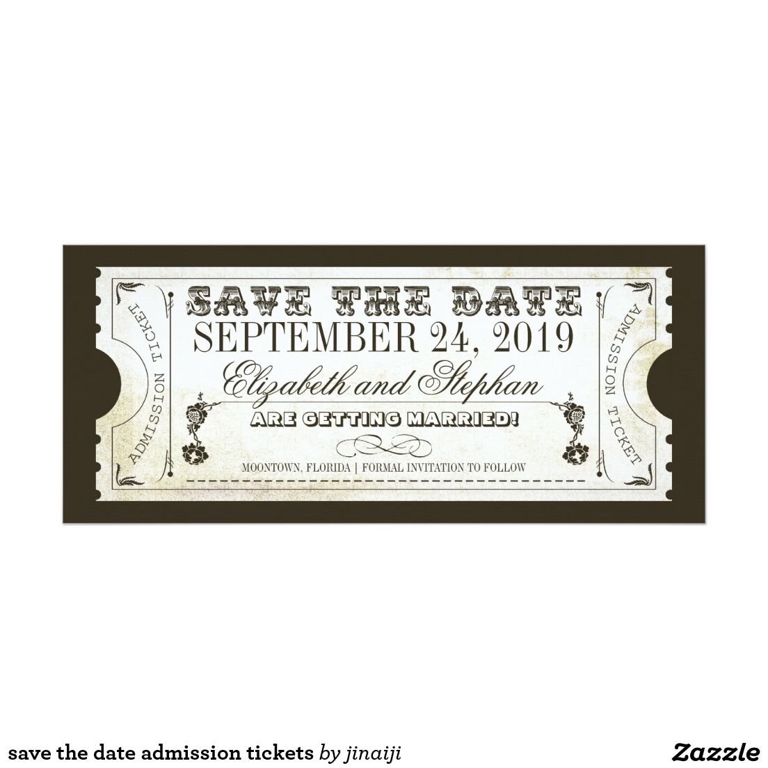 Save The Date Admission Tickets Card The Ojays Save And - Save the date ticket template