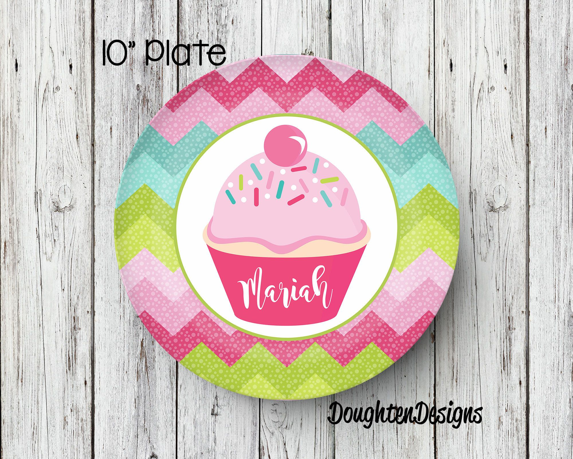 Cupcake Plate Birthday Plate Personalized Melamine Plate Personalized Birthday Plate Girl Plate  sc 1 st  Pinterest & Cupcake Plate Birthday Plate Personalized Melamine Plate ...
