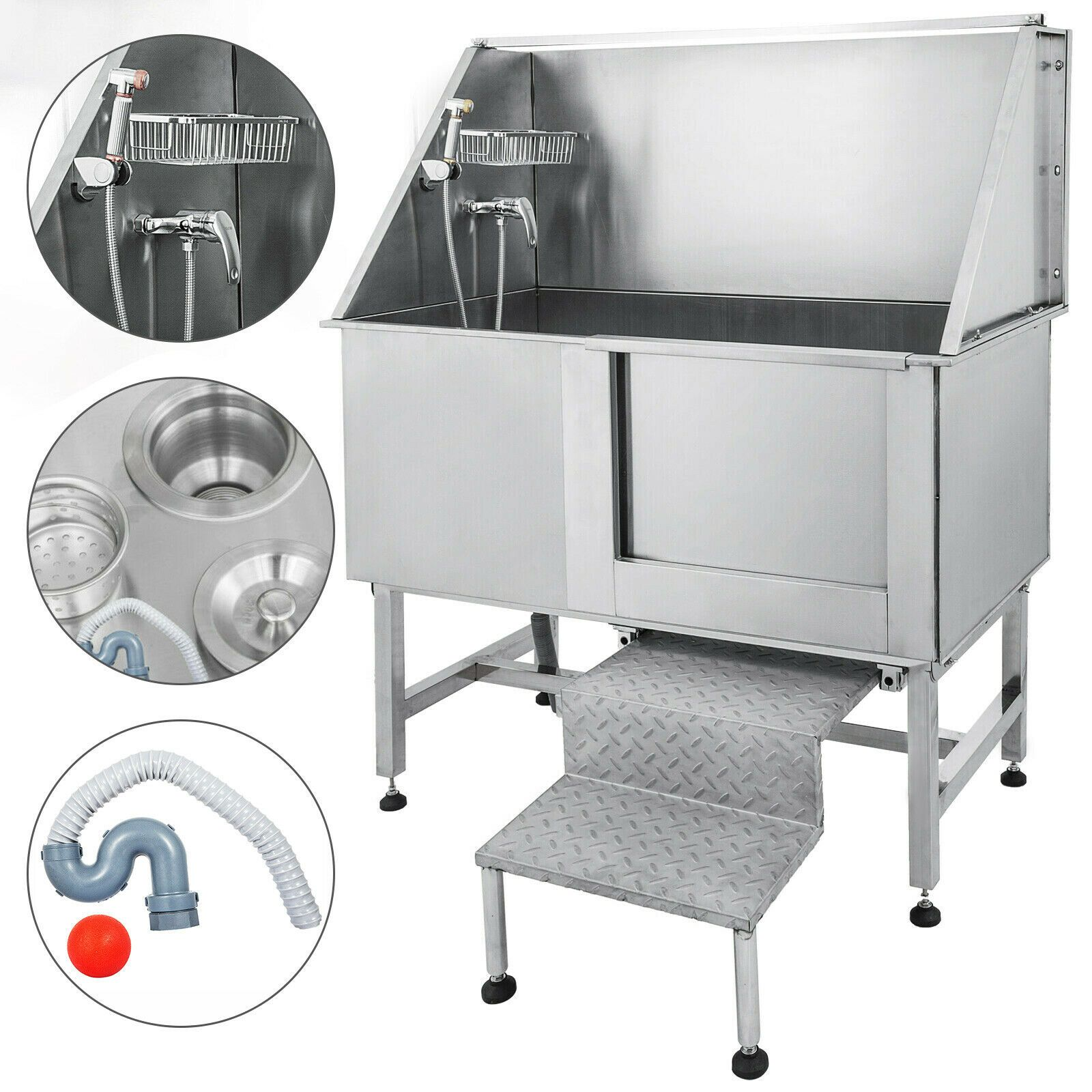 50 Pet Grooming Tub Dog Cat Bath Tub Professional Stainless Steel Wash Shower Ebay In 2020 Pet Grooming Tub Dog Grooming Tubs Hunting Dog Collars