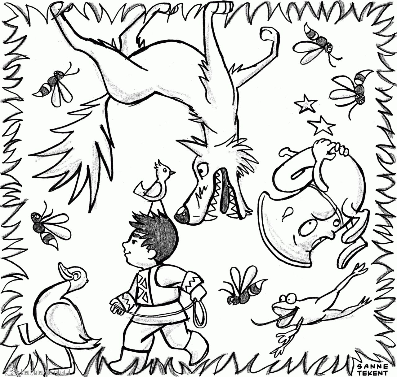 Peter And The Wolf Coloring Pages 14 I Peter And The Wolf Wolf Colors Coloring Pages Wolf