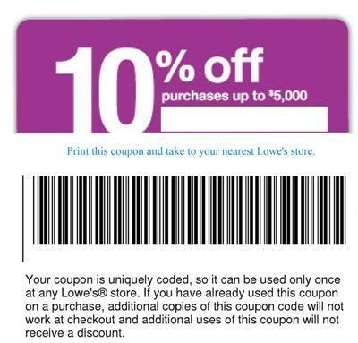 graphic about Lowes 10% Printable Coupon referred to as Pin by way of fifocoral sea upon Things in the direction of Purchase Lowes coupon code