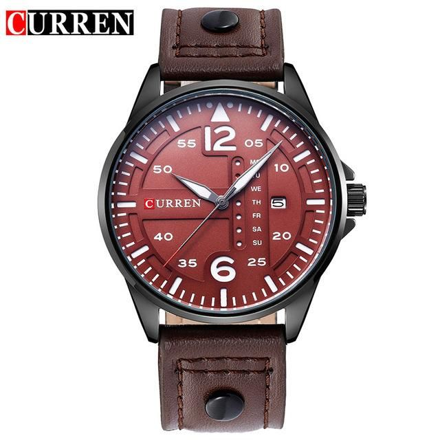 6968cea2c13b CURREN Fashion Brand Leather Strap Casual Men Sports Watch Quartz Military  Wrist Watch Male Clock New Auto Date Week