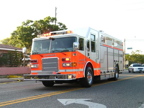 Who Said Fire Trucks Had To Be Red Clearwater Florida Fire Truck