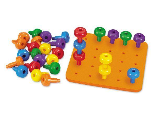 Easy Grip Jumbo Pegs Pegboard Amazon Toys Games Peg