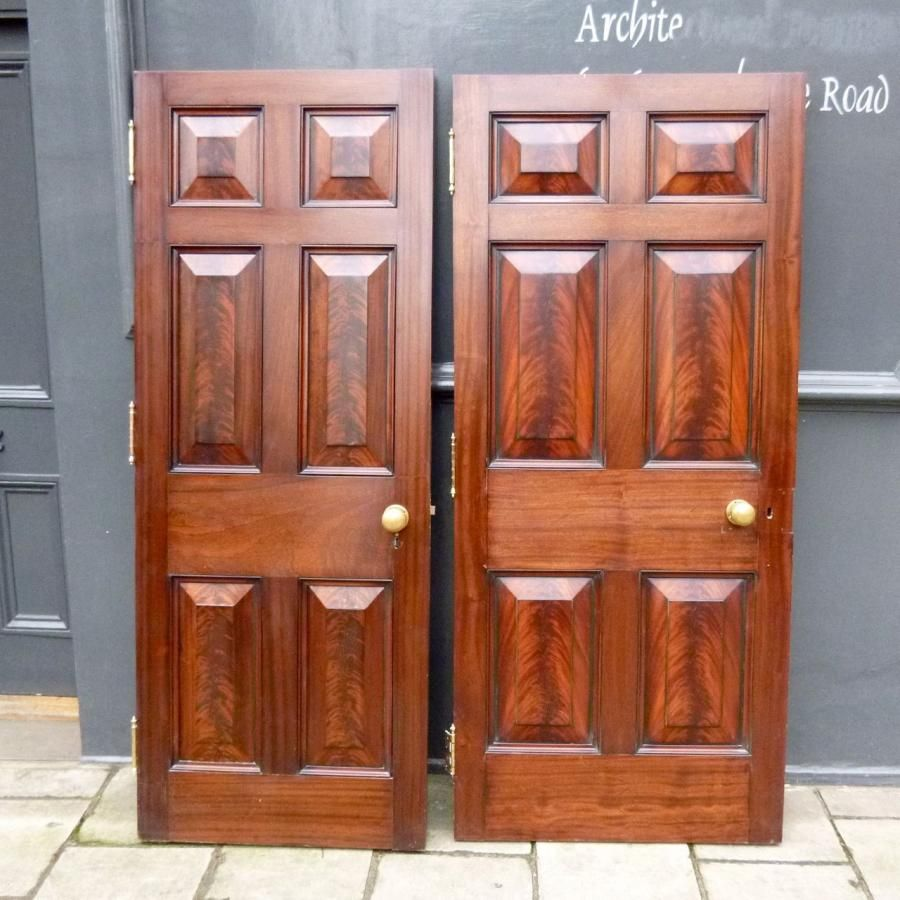 Georgian style solid mahogany 6 panel doors home for Mahogany interior doors