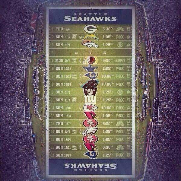 Seattle Seahawks Schedule: Seahawks, Seattle