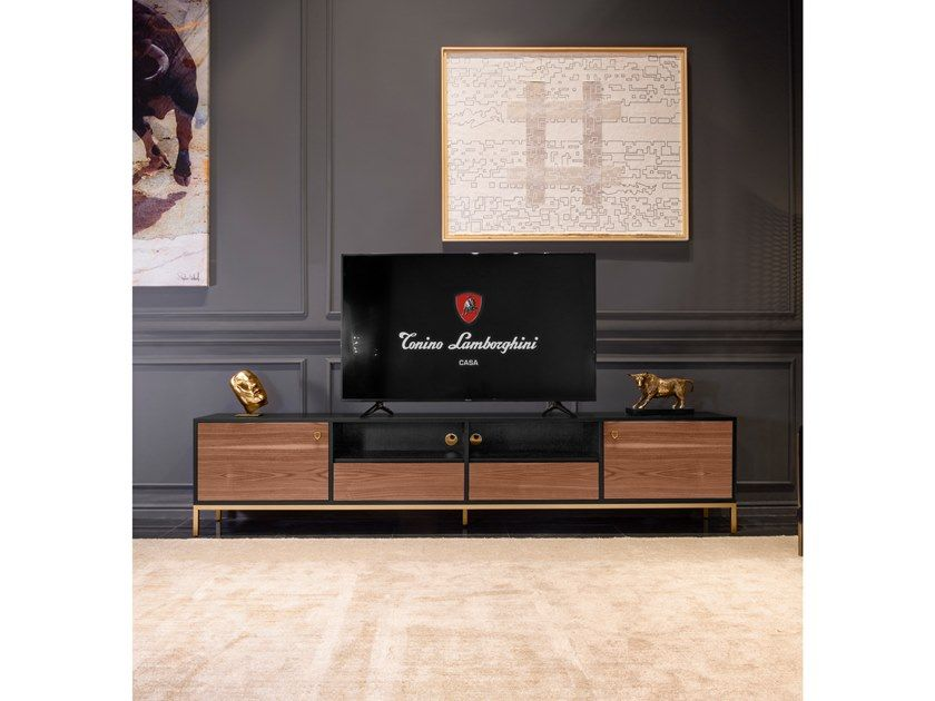 Harlow Tv Cabinet With Cable Management By Tonino Lamborghini Casa Cable Management Tv Cabinets Cabinet