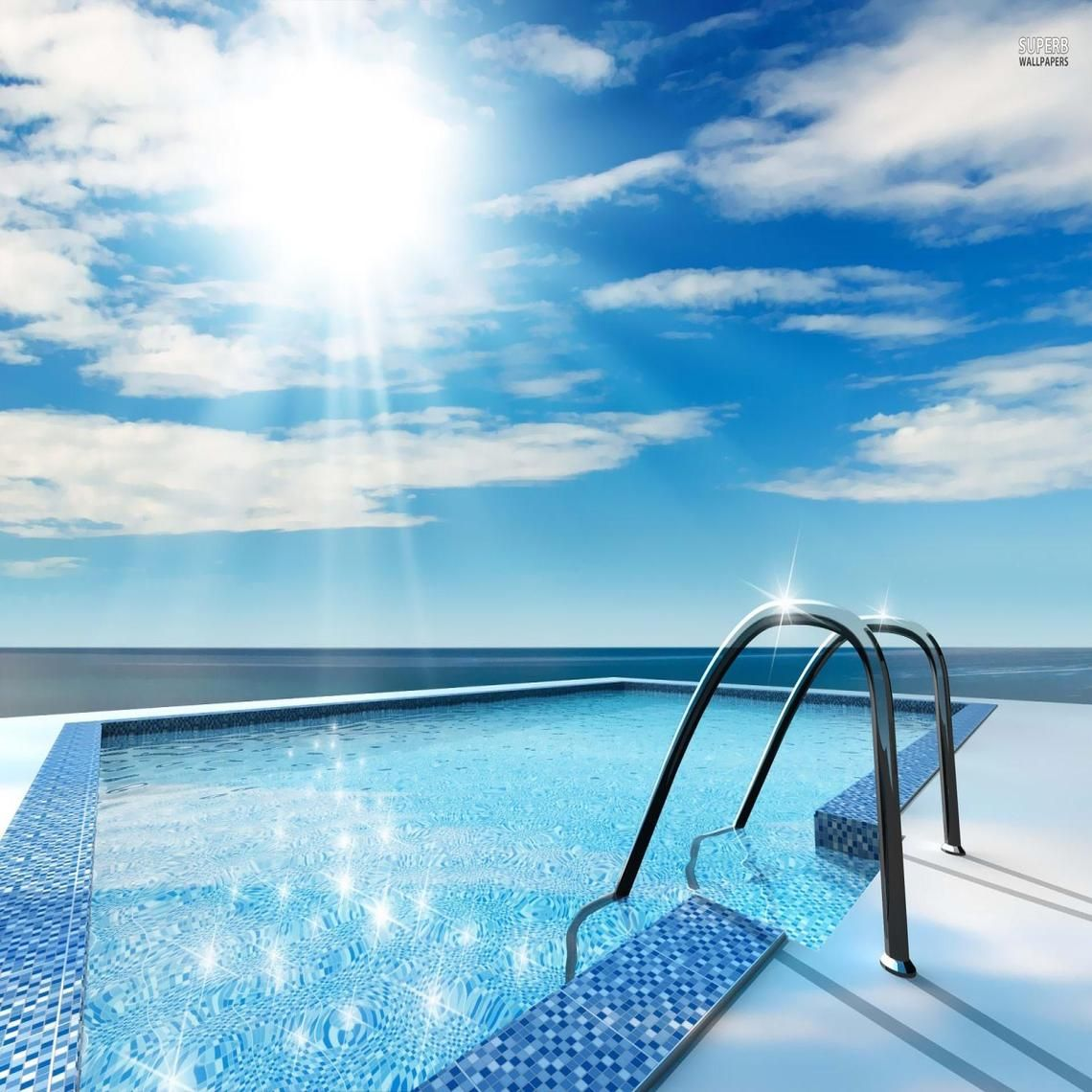 Swimming Pool Wallpaper With Scenic Swimming Pool Wallpaper Pinterest