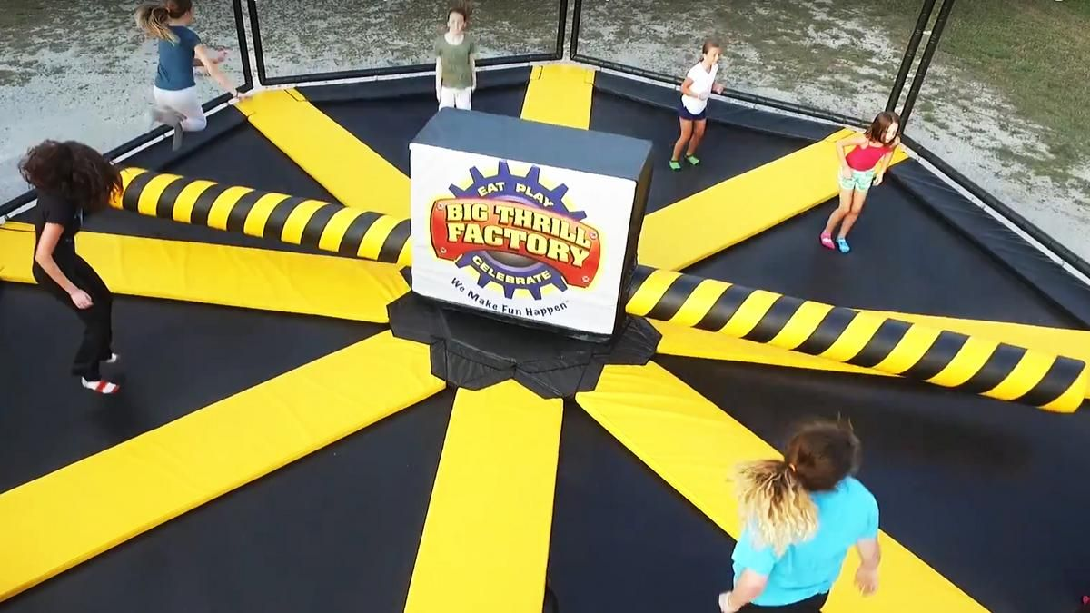 Wipeout Trampoline Birthday Party Planning Kids Birthday Party Fun Activities