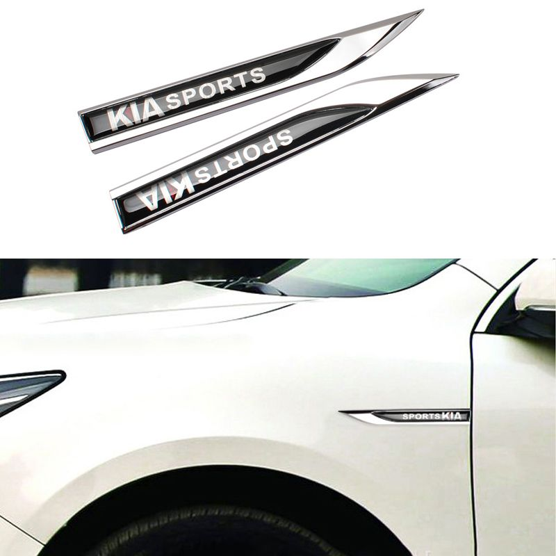 $9.67 (Buy here: http://appdeal.ru/7dou ) 2Pcs/Set Car Styling Universal Metal Leafage Plate Decoration Accessories For Kia Optima Rio Sorento Sportage Forte Cadenza for just $9.67