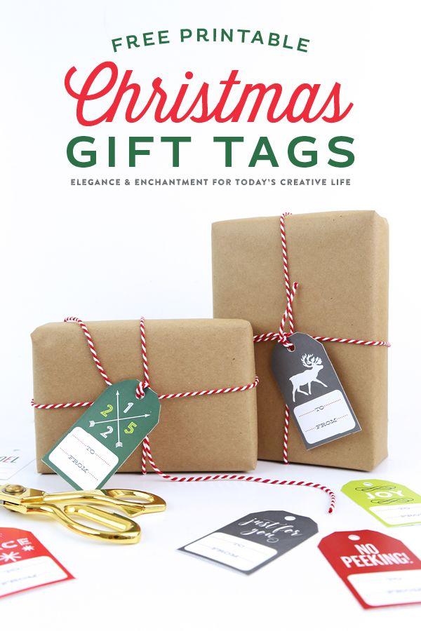 Make your own christmas gift tags printable