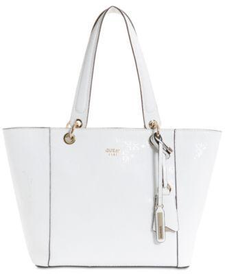 Guess Kamryn Tote White Multi en blanc   fashionette