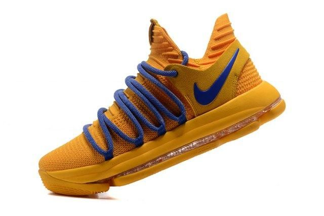 67c3e9d49fd6d4 ... real advanced nike zoom kd 10 ep warrior yellow blue kevin durant mens  basketball shoes sneakers