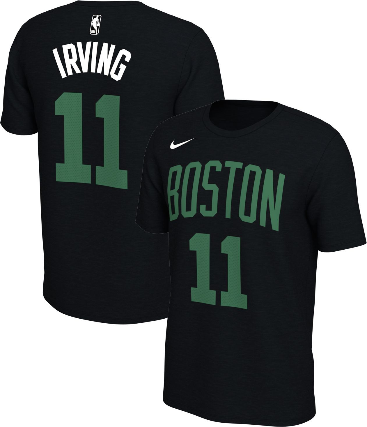 7eb421d503e Nike Men s Boston Celtics Kyrie Irving  11 Dri-FIT Black T-Shirt in ...