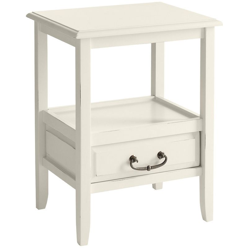 Anywhere End Table Antique White White End Tables Antique